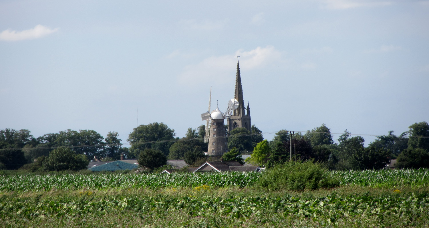 Moulton mill and church